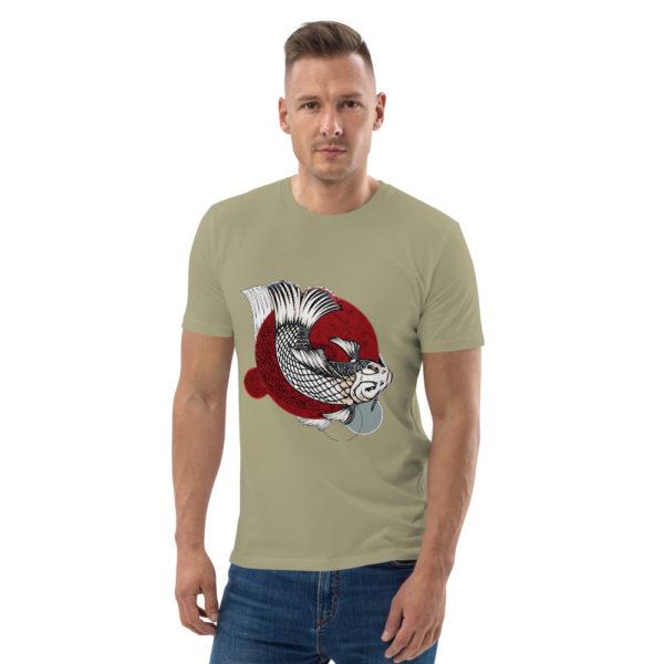 unisex organic cotton t shirt sage front 614dd95d26c34