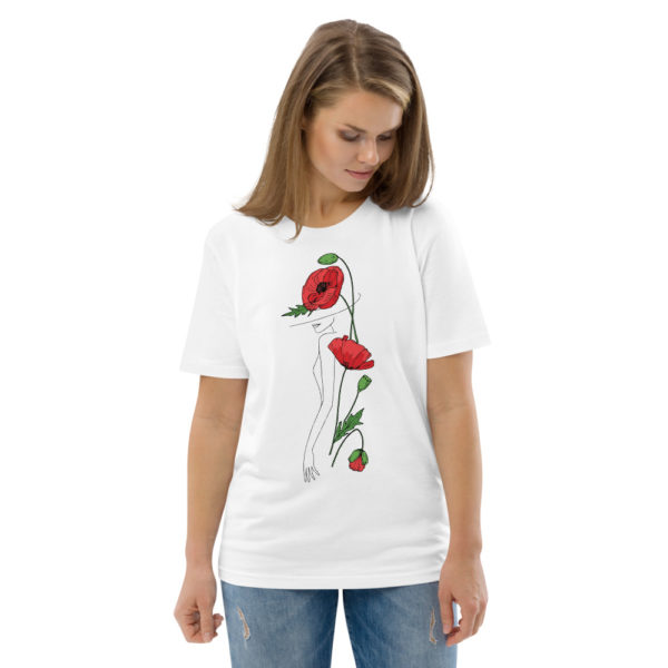 unisex organic cotton t shirt white front 2 6144a2fac3898