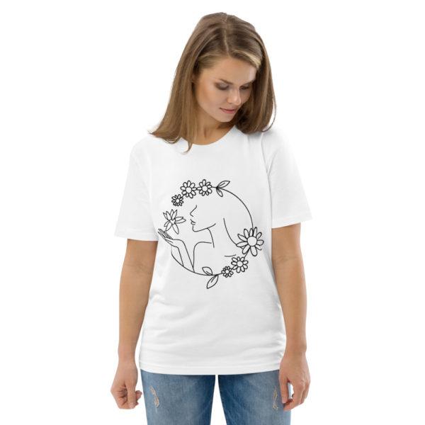 unisex organic cotton t shirt white front 2 6144a43d271e2