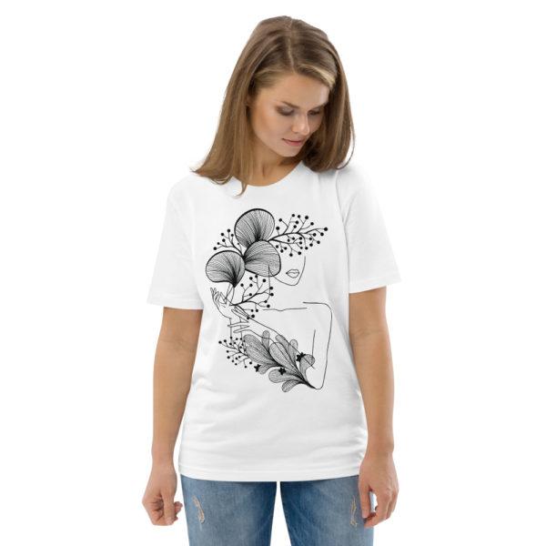unisex organic cotton t shirt white front 2 614dd21847ec0