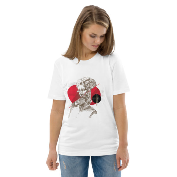 unisex organic cotton t shirt white front 2 614dd49c81334