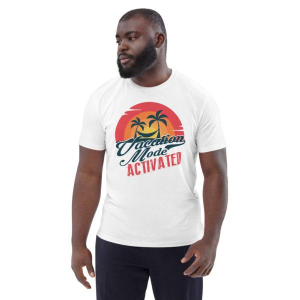 unisex organic cotton t shirt white front 614dd1778175a