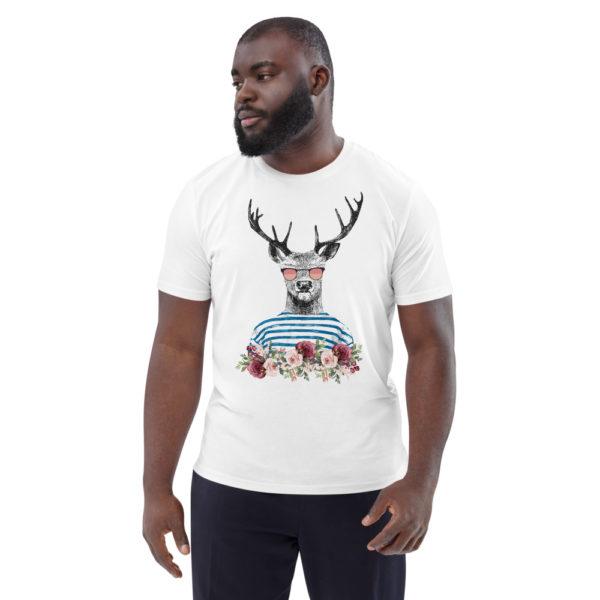 unisex organic cotton t shirt white front 614dd6989a8f3