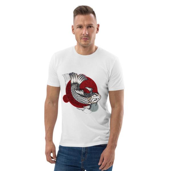 unisex organic cotton t shirt white front 614dd95d24e70
