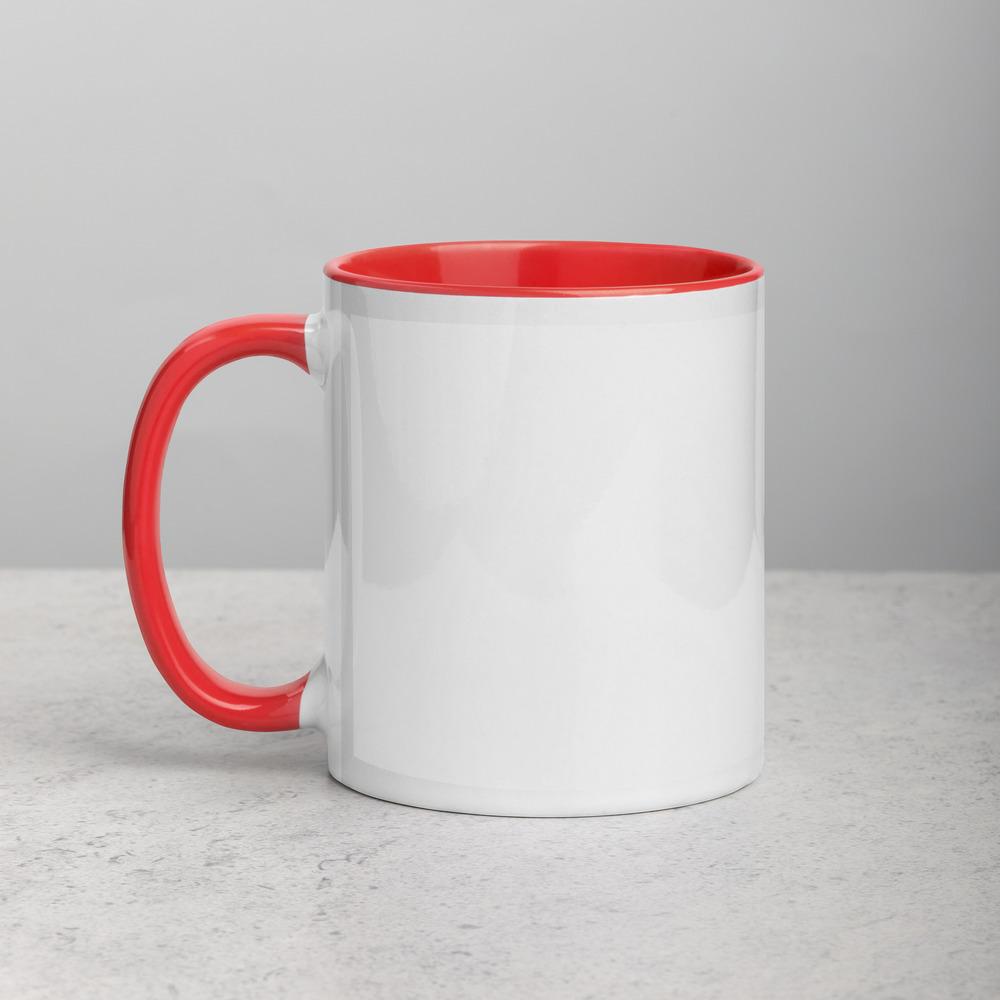 white ceramic mug with color inside red 11oz left 6166bd774cdd9