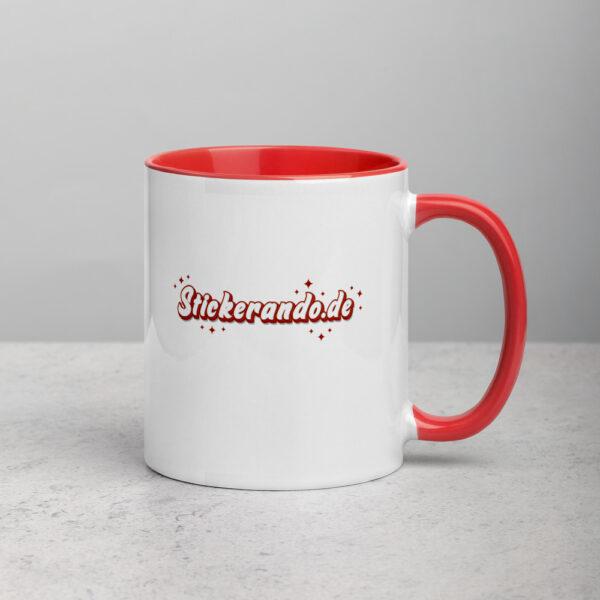 white ceramic mug with color inside red 11oz right 6166bd774ce37